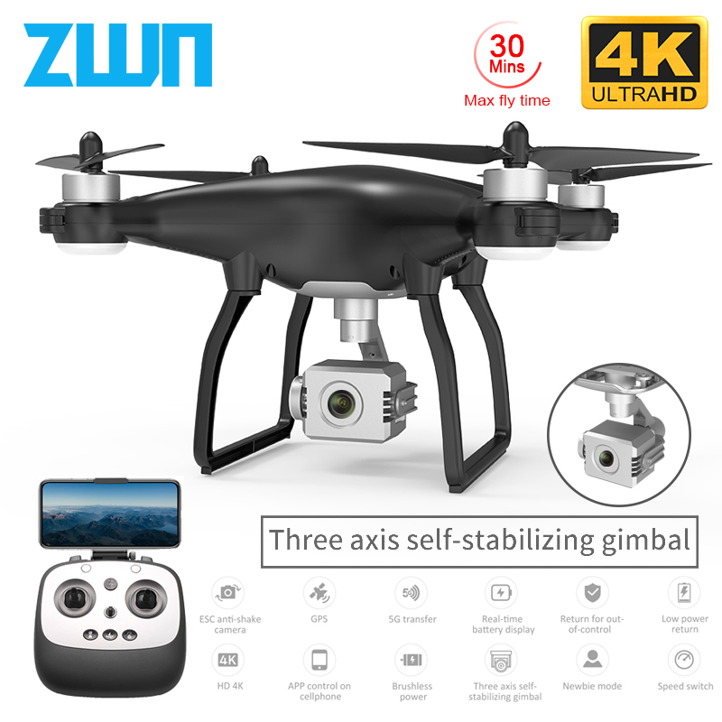 ZWN X35 Pro GPS Drone with WiFi 4K HD Camera Three Axis Gimbal Profissional RC Quadcopter Brushless Motor FPV Dron Vs SG906 Pro|RC Quadcopter|   - AliExpress