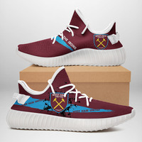 2019 yeezys Boost 350 V2 custom West Ham Blackburn Rovers Crystal Palace fans sport air Running shoes Women Ladies Sneakers