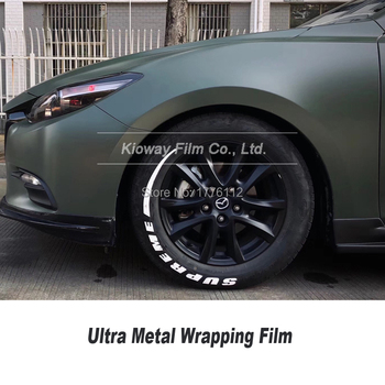 High-quality new color deep Military vinyl wrapping film ultra metal vinyl wrapping film covering film 2020 color Popular