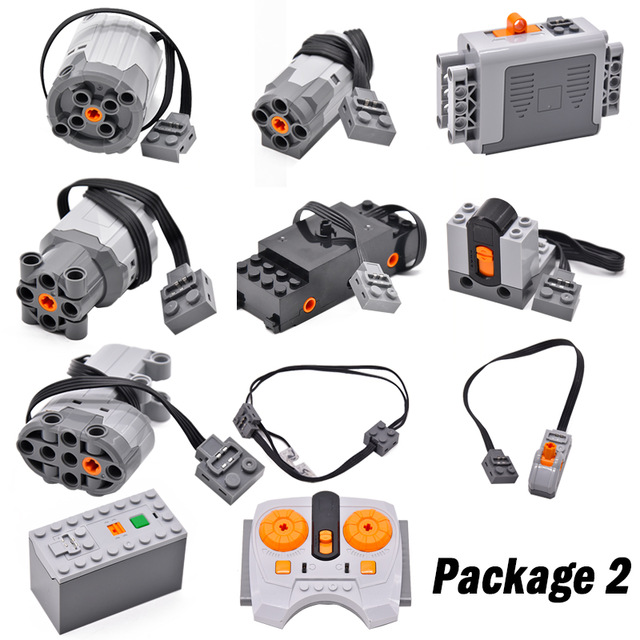 Technical Power Function Servo Motor Polarity Switch IR Remote Control Receiver Battery Box Compatible Legoinglys Technic Kits