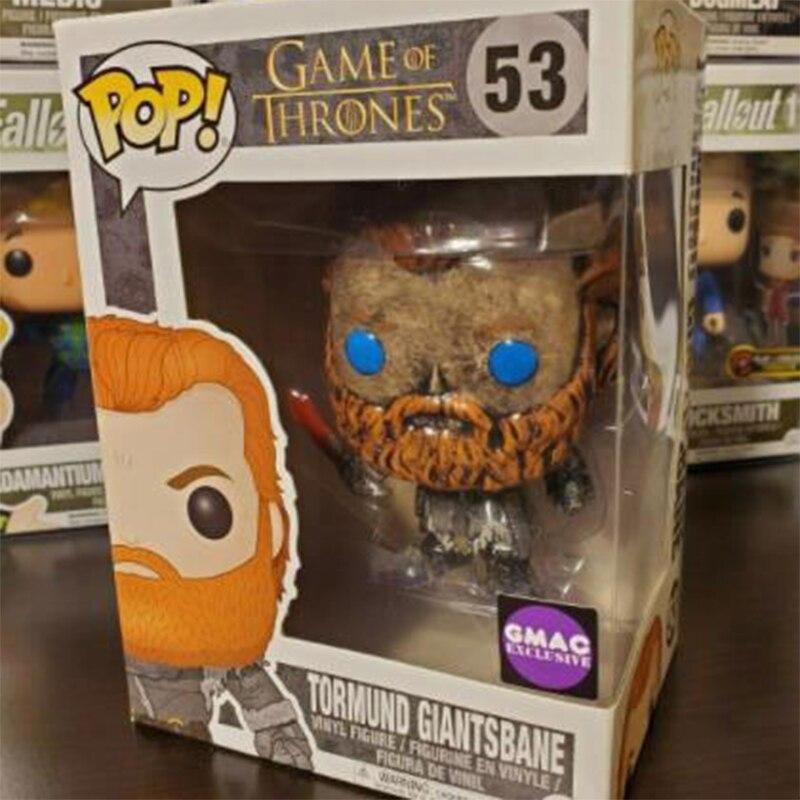 FUNKO POP Game of Thrones Limited Edition Tormund Giantsbane Vinyl Action Figur Figuren Modell Spielzeug für Kinder Weihnachten Geschenke F12