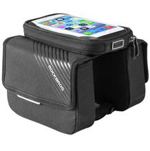 ROCKBROS Touch Screen Waterproof Phone Holder Big Capacity Frame Bag Cycling 6.0 Bike Bicycle Top Tube Pouch