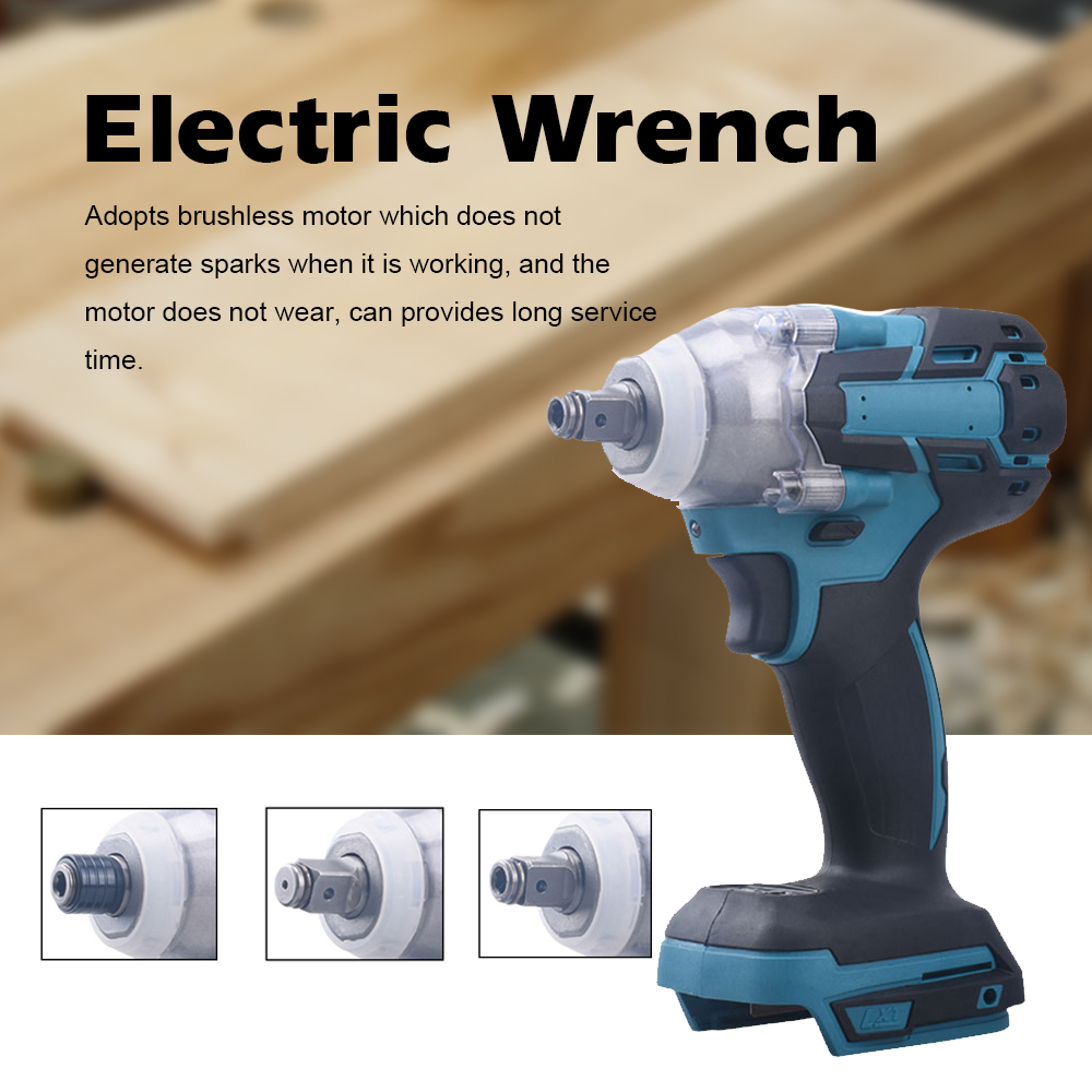 Tools : 18V Impact Wrench Screw Driver Brushless Motor High Torque 650N m Electric Wrench Impact Wrench Brushless Cordless Power Tool