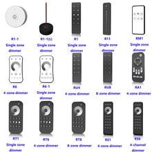 O envio gratuito de escurecimento controle remoto inclui zona única/4 zona/8 zona/4 canal adequado para cor única led rf controlador