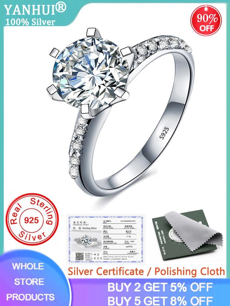 Silver Ring Wedding-Rings Topaz Fine-Jewelry Diamond 925 Zirconia Luxury 90%Off 100%Original