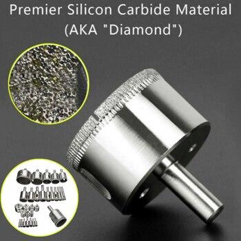 16 Pcs Diamond Hole Drill Bit Set Glass Marble Ceramics Hole Saw Cutter Tools SDF-SHIP