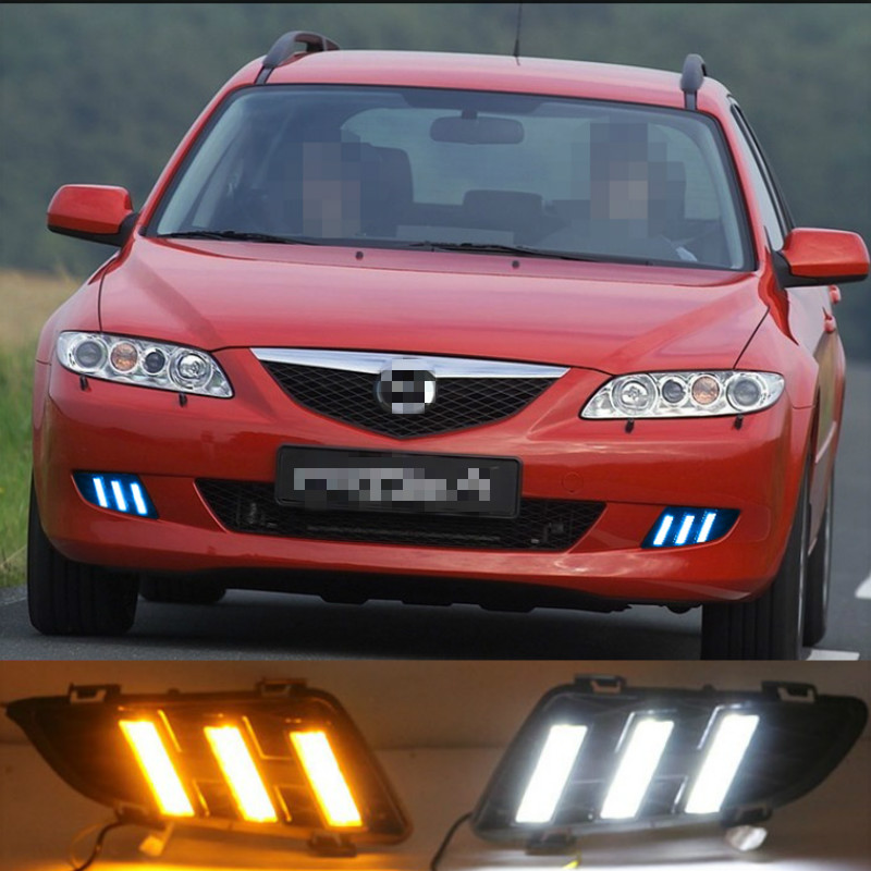2pcs For <font><b>Mazda</b></font> <font><b>6</b></font> Mazda6 2003 2004 <font><b>LED</b></font> DRL Daytime Running <font><b>Light</b></font> Daylight Waterproof Turn Signal lamp image