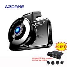 Azdome m17 видеорегистратор wi fi ночное видение 1080p автомобильная