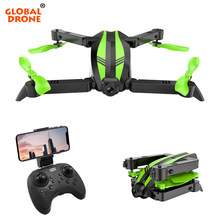 Global Drone SPYDER-X Quadrocopter Drone dengan Kamera HD Wide Angle RC Helicopter Wifi FPV Lipat Quadcopter Mini Drone Drone(China)