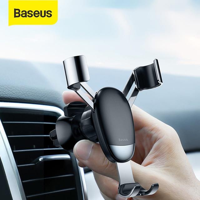 Baseus מיני הכבידה טלפון מחזיק אוויר Vent רכב הר מחזיק עבור טלפון במכונית מחזיק טלפון Stand עבור iPhone X XS סמסונג S9