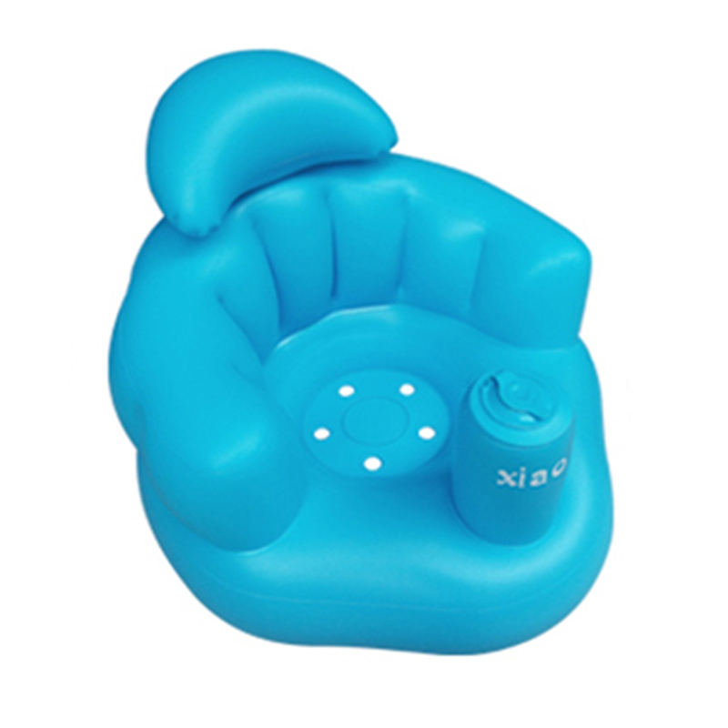 Baby Kid Children Inflatable Bathroom Sofa Chair Seat Learn Portable Multifunctional New @LS