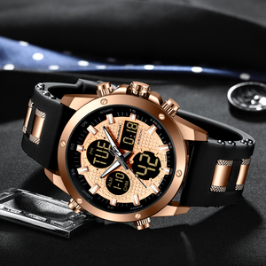 Image 3 - Readeel מותג יוקרה Mens שעונים גברים שעון הכרונוגרף זהב נשף ארבעה דיגיטלי Led ספורט שעון גברים זכר שעון עמיד למים שעוני יד