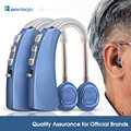 Britzgo Hearing Aid Rechargeable Hearing Amplifier Behind The Ear VHP-1220 Blue