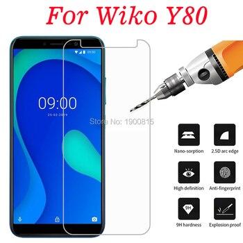 Перейти на Алиэкспресс и купить Для wiko Y80 закаленное стекло 2.5D защитная пленка 9H передняя защита ЖК-экран протектор для wiko Y80 защита