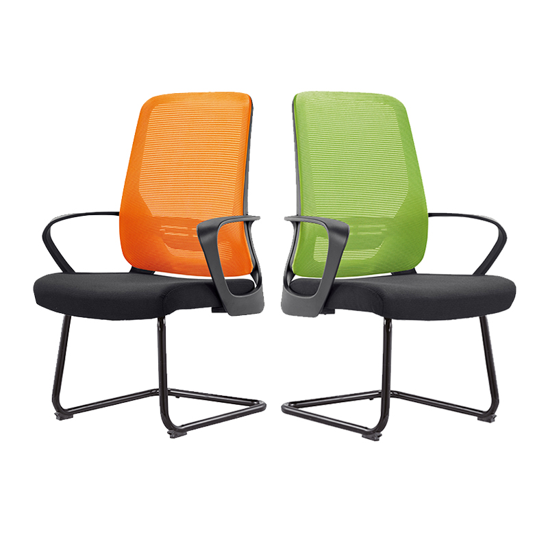 Staff office chair conference chair computer chair simple modern mesh swivel chair bow chair visitor chair negotiation chair   - title=