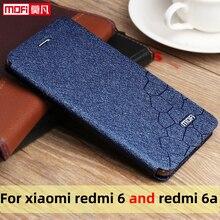Flip Case Voor Xiaomi Redmi 6 Case Redmi 6A Cover Leather Slim Boek Mofi Telefoon Bescherm Cover Stand Luxe Glitter redmi 6a 6 Case