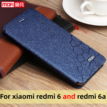 flip case for xiaomi redmi 6 case redmi 6A cover leather slim book mofi phone protect cover stand luxury glitter redmi 6a 6 case