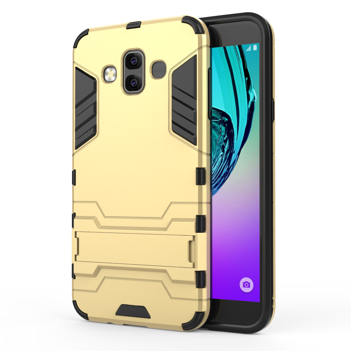 Armor Stand Cover Case For Samsung Galaxy S9 S8 S7 S5 S6 Edge Plus Note 9 8 5 4 Case J8 2018 J6 J7 2017 2016 Prime Max Duo Bags