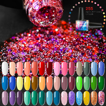 Mtssii 8ml Pure 255 Colors Gel Nail Polish Nails Soak Off Manicure UV Gel Varnish DIY Nail Art Decorations Manicure Lacquer image