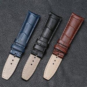 Image 3 - Мужские наручные часы из натуральной кожи аллигатора Pesno, ремешок для часов 20 мм, 21 мм, ремешок для часов Baume & Mercie