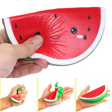 Watermelon Fidget Toys Squishy Soft Anti-Stress Smiley Face Slow Rebound Funny Kids PU Novelty Squeeze Toy Games Vent Toys Gift