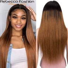 13X4 цветной парик из человеческих волос с эффектом омбре, парик, прямые передние женские парики в бразильском стиле T1B/99J 1B/27 1B/3