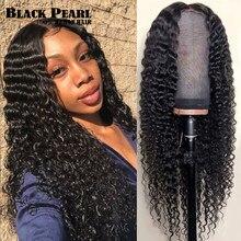 Onda profunda brasileira peruca 30 Polegada pré arrancadas 13x4 onda profunda peruca dianteira do laço encaracolado com cabelo do bebê perucas hiar humano para preto