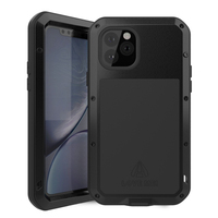 LOVEMEI Luxury Dirt resistant Anti knock Metal Aluminum Cases Cover with Gorilla Glass for iPhone 11 Pro Heavy Duty Protection