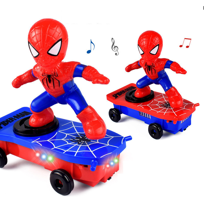 Music Children's Toys Heroes Electronic Toys Stunt Scooters Automatic Flip Music Electric Skateboard Stunt Car Children's Toys