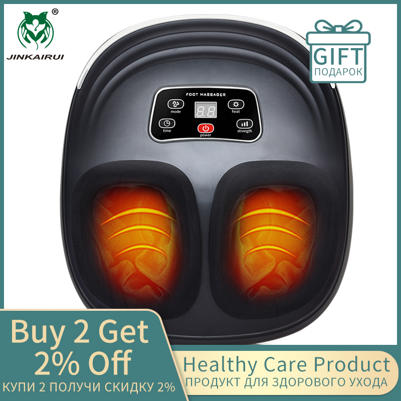 Jinkairui Kneading Air Compression Electric Foot Massage Machine For Health Care Infrared With Heating And Therapy Anti-stress