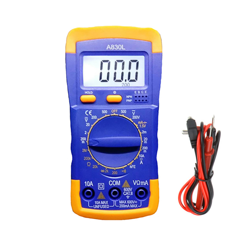 Image 3 - A830L LCD Digital Multimeter AC DC Voltage Diode Freguency Handheld Multitester Current Tester Luminous Display Buzzer Functions-in Multimeters from Tools