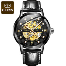 OLEVS 2020 New Automatic Mechanical Watch Men Stainless Waterproof Moon Phase Luminous Luxury Business  Clock new luxury fashion mens automatic mechanical watches carnival men moon phase clock male stainless steel gold watch montres homme
