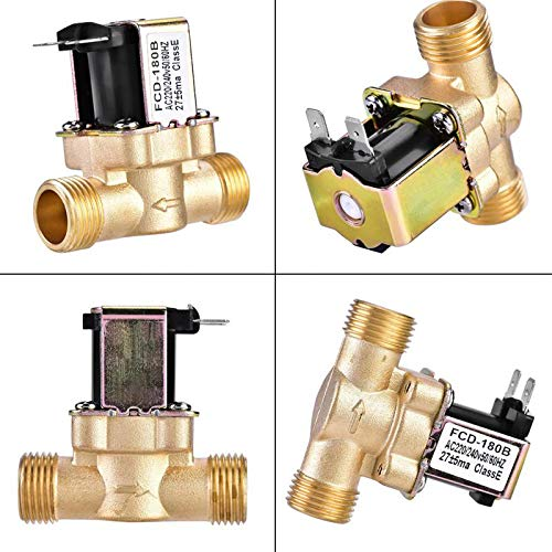 G1/2'' Brass Electric Solenoid Valve N/C 12v 24v 220v G3/4'' Water Air Inlet Flow Switch For Solar Water Heater Valve