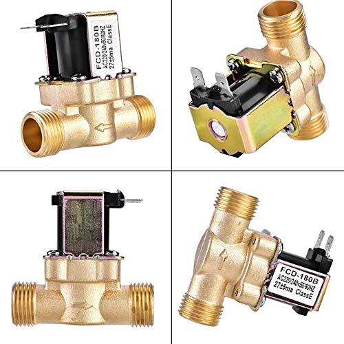 G1/2'' Brass Electric Solenoid Valve N/C 12v 24v 220v G3/4'' Water Air Inlet Flow Switch For Solar Water Heater Valve