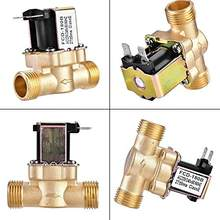 G1/2 ''válvula solenoide de bronze elétrica n/c 12v 24v 220v g3/4 interruptor de fluxo de entrada de ar para água, válvula aquecedora de água solar