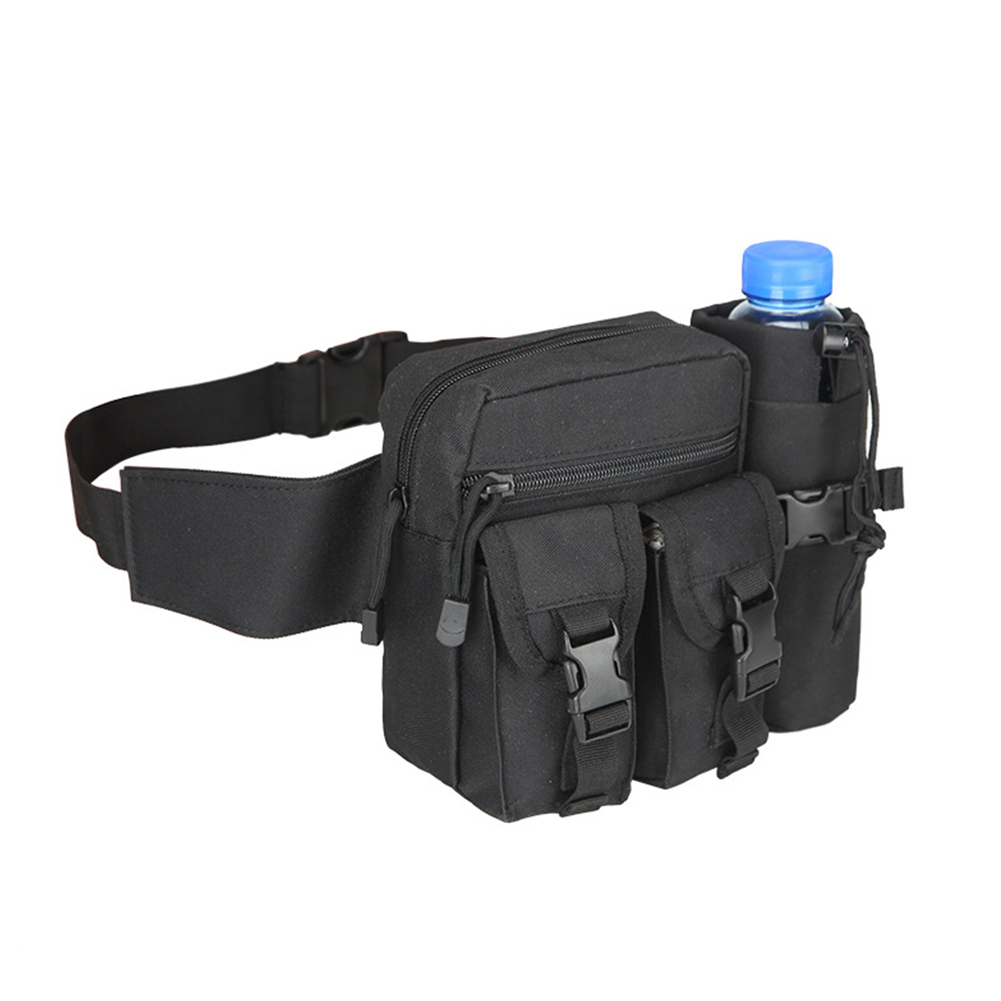 Men Waist Bag Fashion Military Travel Water Bottle Fanny Waist Bag Male Portable Nylon Belt Army Fan Waist Pack