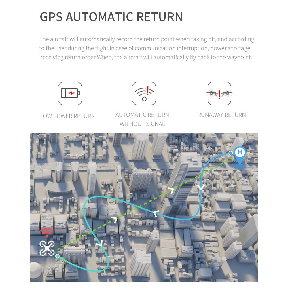Drone SHAREFUNBAY S162 GPS 4K HD 1080P 5G WIFI FPV vol quadrirotor 20 minutes distance RC 500m dron drone de retour intelligent pro - 5