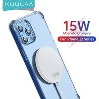 Caricabatterie Wireless magnetico KUULAA 15W per iphone X 11 12 Pro Max Mini per Magsafe Aock Pad di ricarica rapida per Huawei Xiaomi Phone