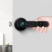 Serrure biométrique à empreintes digitales avec mot de passe, sécurité automatique, Port USB intelligent, adapté aux appartements familiaux et aux hôtels