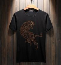 Haute qualité hommes t shirt 100% coton fer perceuse conception top t shirts 2019