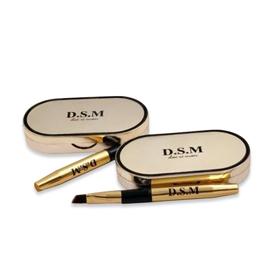 D.S.M Professional Eyebrow Powder 2 Colors Waterproof Eyebrow Non-smudge Eye Brow Makeup Eyeshadow Palette Cosmetics Makeup Kit 4