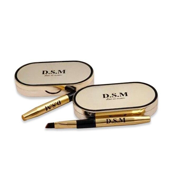D.S.M Professional Eyebrow Powder 2 Colors Waterproof Eyebrow Non-smudge Eye Brow Makeup Eyeshadow Palette Cosmetics Makeup Kit 4