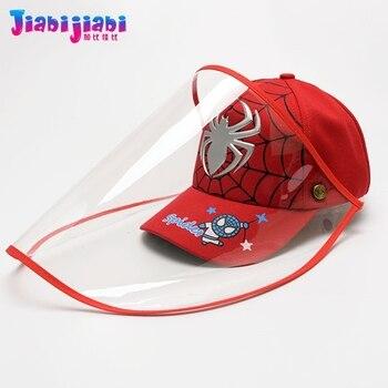 Scherza il Cappello Maschera Del Bambino del Ragazzo di Protezione Anti-Virus Sputare Viso Scudo Maschera Moda Protetor Viso Visiera Di Plastica Cap 1-3 vecchio 1