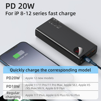 Baseus Power Bank 30000mAh with 20W PD Fast Charging Powerbank Portable External Battery Charger For iPhone 12 Pro Xiaomi Huawei