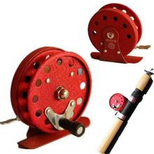 HobbyLane Outdoor Fishing Accessory 1pc Top Quality All Metal Red Fly Roll 55mm Wheel 68g Gear Hot Sale