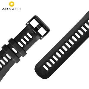 Image 1 - Bracelet de montre Original 22mm (largeur) Bracelet en silice pour Xiaomi Huami Amazfit GTR (47mm) Pace Stratos série
