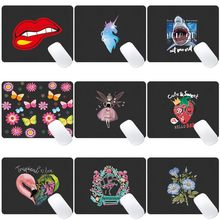 Computer Mouse-pad Anti-slip Waterproof Color Pattern PU Leather Mouse Mat Gaming Easy To Clean Mouse Pad