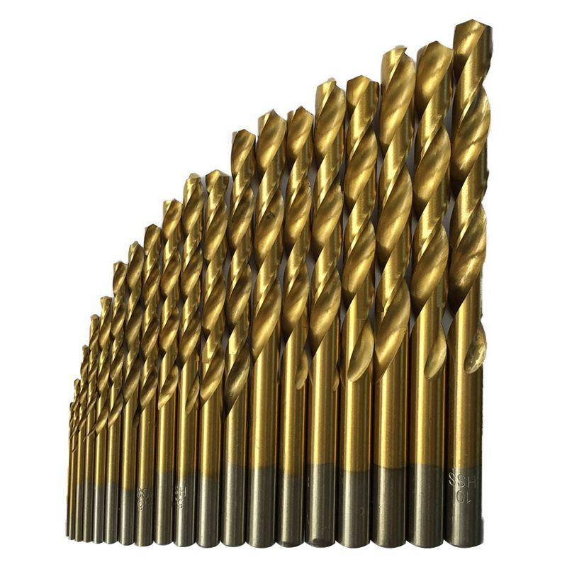 50 Pcs Titanium Coated High Speed Steel Drill Bit Set Tool 1/1.5/2/2.5/3mm