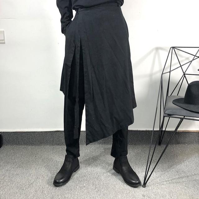 Owen Seak Men Casual Harem Pants Cross High Street Wear Hip HOP Ankle Length Pants Men's Gothic Sweatpants Spring Black Pants 3