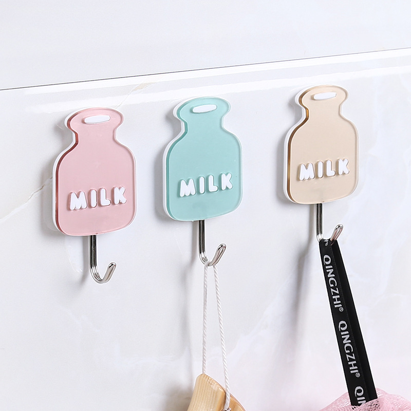 1PC Hook Strong Cute Shape Suction Wall Sucker Hanger Waterproof Adhesive Heavy Load Rack Stainless Steel Hook Cintre Cabide